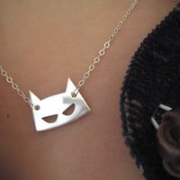Mask on chain silver by mooen on Etsy