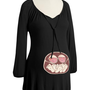 Twin Babies in Belly Black Jersey Maternity Tunic Size S, M or L