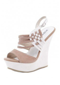 TAUPE WEAVING DESIGN WEDGE @ KiwiLook fashion