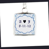 Photo Bridal Charm Soldered Glass Pendant Wedding bride bridesmaids memorial keepsake birthday