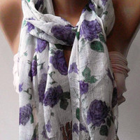 purple  - Elegance Shawl / Scarf...
