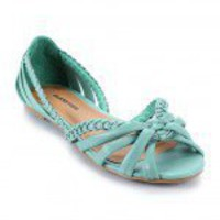 City Classified Card-S Braided Peep Toe Flat