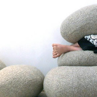 Living Stone Pillows, inspired by nature