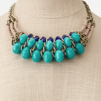 Charlotte Russe - Jade Beaded Collar Necklace