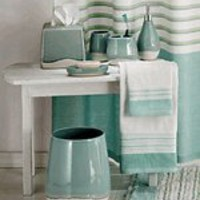 Aqua Spa Bath Accessories | Contemporary Stripe Bathroom Decor | Creative Home Accents