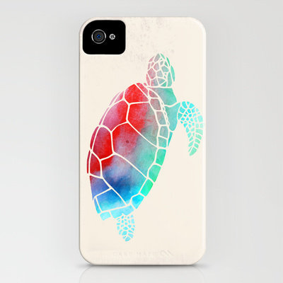 Watercolor Turtle iPhone Case by Jacqueline Maldonado | Society6