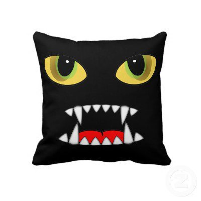 Night Fangs Throw Pillows from Zazzle.com