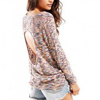 Mink Pink Magic Dragon Ribbon Knit Sweater in Multi