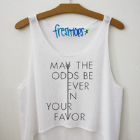 May The Odds Be Ever in your favor Fresh Tops Crop Top | fresh-tops.com