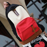 YESSTYLE: Smoothie- Color-Block Canvas Backpack - Free International Shipping on orders over $150