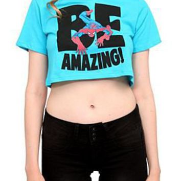 Marvel Universe Spider-Man Be Amazing! Crop Top - 145160