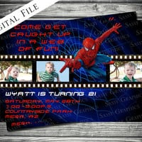 Spider-Man Film Strip Birthday Invitation