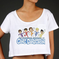 Adventurous Adventures of One Direction Crop Top MEDIUM CLEARANCE
