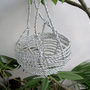 Multipurpose Silver Handmade hanging basket.