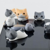 10pcs Cheese cat 3.5mm Anti Dust Earphone Jack Plug Stopper Cap for iPhone HTC