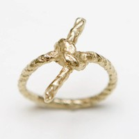 Forget Me Knot Gold Ring by WhiteFly on Etsy