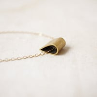 Pretty Brass Drop - 14k Gold Filled Chain