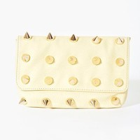 Empire Spike Clutch - Cream