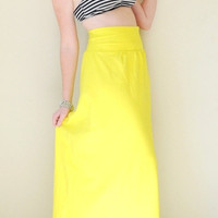 Flowy Hand Dyed High Waist Maxi Skirt - Full Gathered Waist Extra Long Maxi Skirt - Wear 2 Ways - Flowy Strapless Dress - Sizes XS,S,M,L,XL