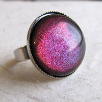 Rainbow Galaxy Ring in Silver