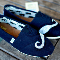 Mustache TOMS Shoes