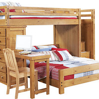 Creekside Taffy Twin Full Step Bunk Bedroom w Chest
