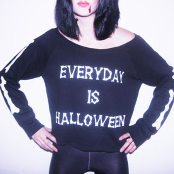 EVERDAY IS HALLOWEEN SWEATER — NIKKI LIPSTICK