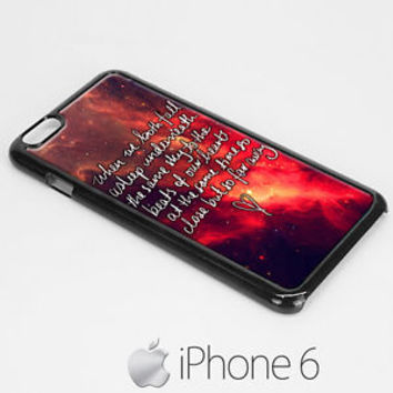 galaxy lyric seconds of summer hardcase for iphone 6 / iphone 6 plus