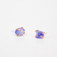 Tanzanite Claw Stud Earrings | LEIF