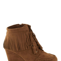 ModCloth Boho Friends with Fringe Bootie