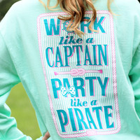 Jadelynn Brooke Southern Party Like a Pirate Long Sleeve Shirt