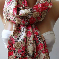 Pink and Beige / Elegance Shawl / Scarf-