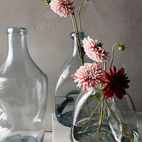 Pinched Glass Vase by Anthropologie Clear