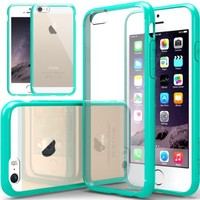 """iPhone 6 Case, Caseology [Clearback Bumper] Apple iPhone 6 (4.7"""" inch) Case [DIY Customization] [Turquoise Mint] Scratch-Resistant Clear Back Cover [Drop Protection] TPU Hybrid Fusion Best Apple iPhone 6 clear case for 4.7 Inch (for Apple iPhone 6 Verizon,"""