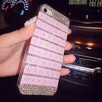 glitter pink rhinestone iPhone 6 case iPhone 6 plus case Bling iPhone 5 case iPhone 5s case