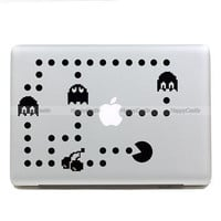 Pacman-  Macbook Decal Pro/Air  Sticker Handmade Skin Partial Protector (SN17513)