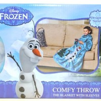Disney Frozen Olaf Designer Series Comfy Throw, The Blanket With Sleeves.