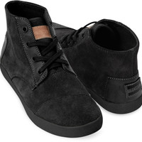BLACK SUEDE WOMEN'S PASEO HIGHS
