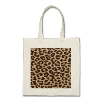 Leopard Print Pattern Canvas Bag