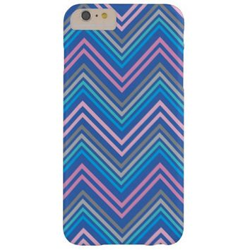 Periwinkle Blue Pink Gray Chevron Pattern iphone 6 PLUS Case. Case-Mate Barely There case; Cute colorfu modern chevron iphone 6 Plus cases