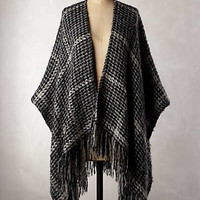 Houndstooth Boucle Poncho by Anthropologie