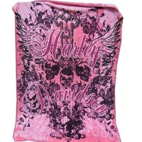 Harley-Davidson® Pink Crest Throw 512924