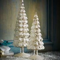 Bethany Lowe Vintage-Style Frosted-Glass Trees