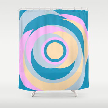 Simple Dots Series Shower Curtain by Timothy Davis
