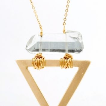 Triangle Quartz Necklace {Gold} | SarahMulder.com