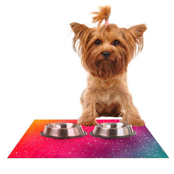 "Fotios Pavlopoulos ""Colorful Constellation"" Pink Glam Dog Place Mat"