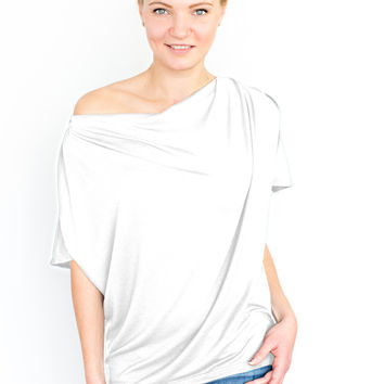 The Evolve Top {Bright White} Versatile Multiway Travel Clothing