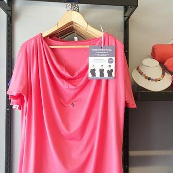 The Evolve Top {Coral} Versatile Multiway Travel Clothing