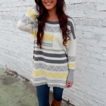 Yellow Pattern Sweater