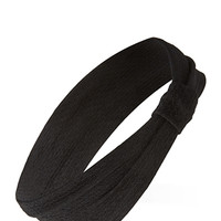 FOREVER 21 Knot-Detail Textured Headwrap Black One
